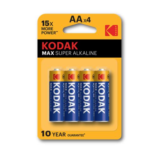 Kodak AA αλκαλικές μπαταρίες x4 pack